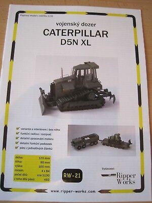 Planierraupe Caterpillar D5N XL 1:32  Kartonbausatz *NEU* Bastelbogen