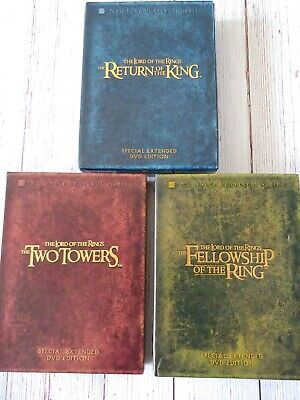 👑 Lord of the Rings Special Extended Edition DVD 12 Disc w/Manuals + Extras