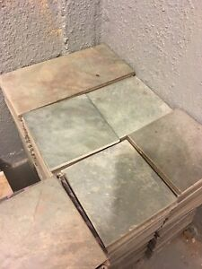 Ceramic tiles - greenish grey colour