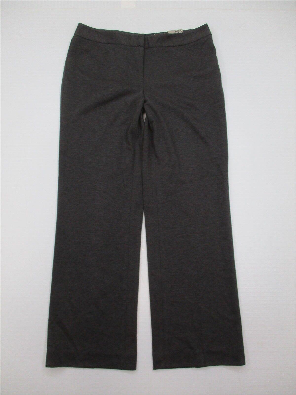 85f868bc41f CALVIN KLEIN Dress Pants Women s Size 10 Ponte Knit Charcoal Gray ...