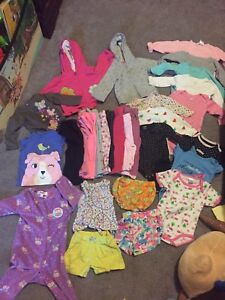 babybgirls clothes 6-12months USED!