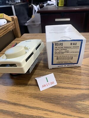 Mears M602 Line Voltage Thermostat Ivory