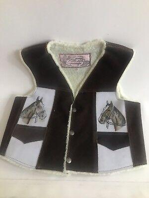 Cowboy Kids Leather Vest. Size 10, Boy Or - Kids Cowboy Vest