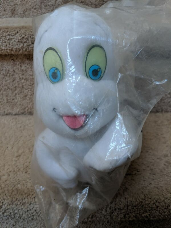 VTG NWT 1995 CASPER FRIENDLY GHOST STUFFED ANIMAL PLUSH GLOW IN DARK EYES SEALED