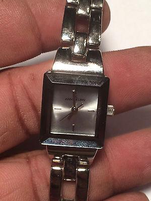 Nice Ladies Silver Tone Anne Klein 10/1063 Analog Watch