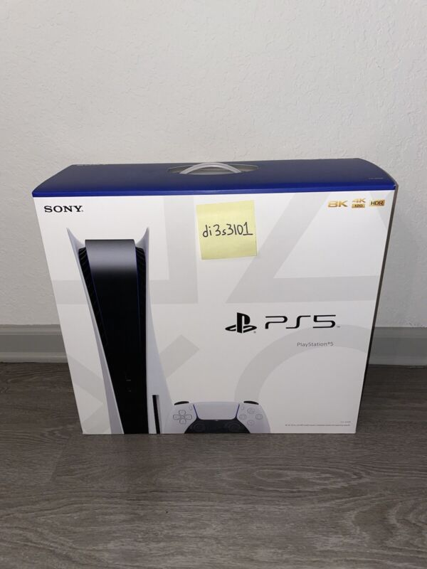Sony PlayStation 5 Disc Console PS5 Blu Ray BRAND NEW IN HAND SHIPS NOW