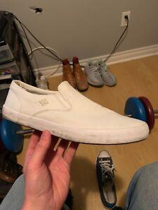 Sperry slip on all white