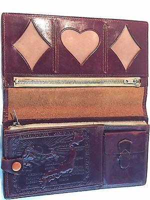 Vintage Japan souvenir leather wallet Beautiful imagery very unique
