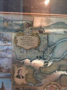 Montreal map frame cadre