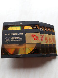 SONY Premium MiniDisc 74 Mins. With shock absorbing mechanism. Buy 5 get 2 free!