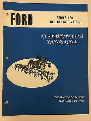 Ford Tractor Series 420 Tool Bar Cultivator Operators Manual