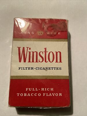 Vintage WINSTON Filter Cigarettes Playing Cards Sealed Advertising Promo Deck