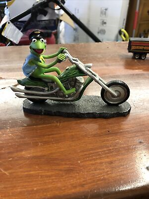 KERMIT THE FROG Easy Green Rider Muppet Motorcycle Figurine Sculpture Numbered