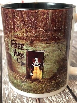 Pennywise The Clown Free Hugs Halloween Handmade Coffee Mug Gifts for Him & Her (Halloween Gifts For Him)