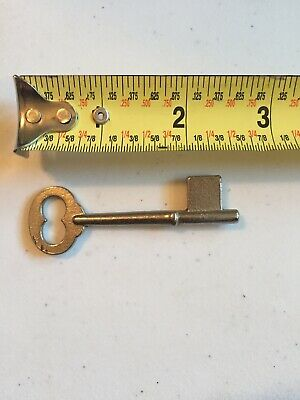 Vintage Steel Skeleton Key Uncut Blank Solid Barrel Marked Germany
