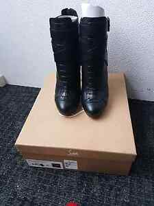 Christian Louboutin size 38  Lamu leather 120mm lace up boot Hawthorn Boroondara Area Preview