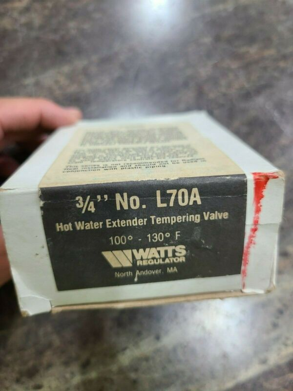 """WATTS 0215473 1/2"""" Hot Water Extender Tempering Valve L70A-T BRAND NEW IN BOX"""