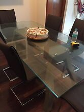 Glass table and 8 chairs Willagee Melville Area Preview