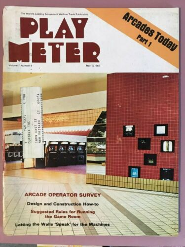 Play Meter Magazine May 15, 1981 w/ Black Knight, Eight Ball Deluxe promo flyers