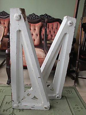 2 Extra Large Matching Antique Architectural Wood CORBELS BRACKETS 39 INCH TALL