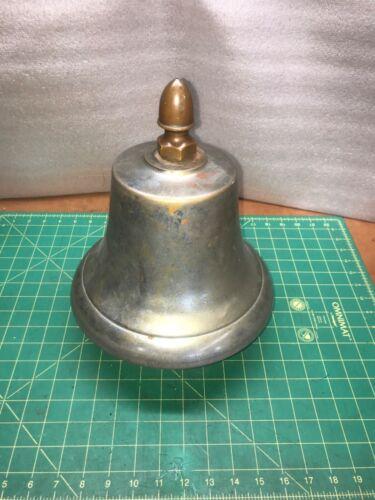 Large vintage bottom mount ship bell H&H