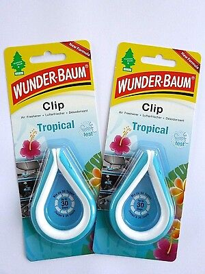 Saftige Kokos ((3,33€/10 g) 2x 12 g WUNDER-BAUM® Clip Tropical Autoduft Lufterfrischer Duftclip)