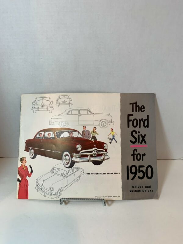 "1950 FORD ""The Ford Six for 1950"" Brochure"