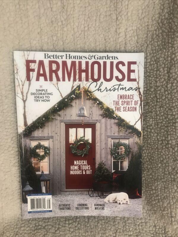 Better Homes & Gardens Farmhouse Christmas Magazine 2021 Embrace the Spirit