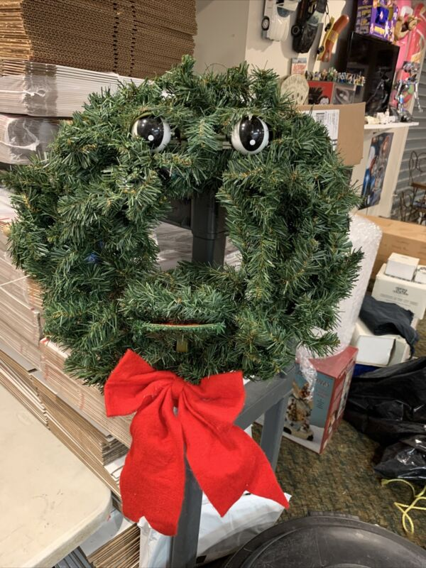 """Gemmy The Original Talking Singing Christmas Wreath 20"""" All Of It Works Tested"""