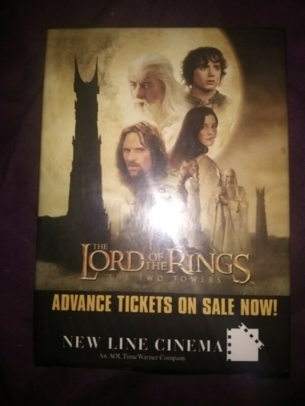 Lord of the Rings The Two Towers Rare Promo Badge Vintage