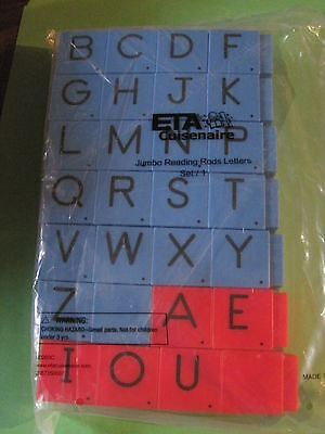 ETA Jumbo Reading Rods Letter Cubes Alphabet Phonics Literacy  Montessori Autism