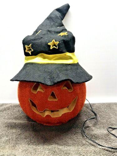 Halloween Pumpkin, Jack-O-Lantern, Fiber Optics, Changes Colors