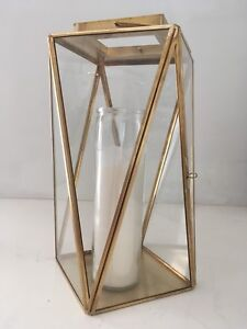 Gold candle holder / lantern new perfect condition