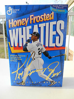 1996 HONEY FROSTED WHEATIES CEREAL BOX KEN GRIFFEY (NEVER OPENED)