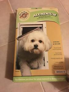 Security Screen Pet Door White Medium For Dogs By Pig In Mud Yatala Gold Coast North Preview