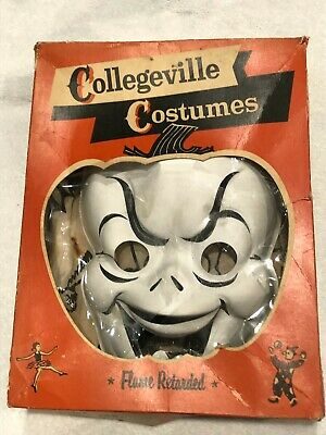 Vintage Ghost Halloween Costume Collegeville,12G small 4-6, Original Box, USA!