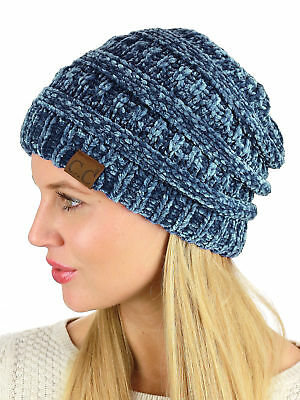 New! C.C Women's Chenille Soft Warm Extra Thick Knit CC Beanie Cap (Chenille Beanie Hat)