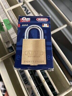 Abus 8345-300 Schlage C Keyway Rekeyable Brass Padlock