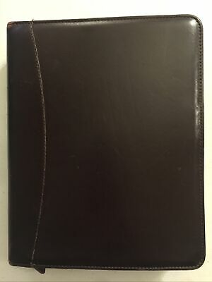 Franklin Quest Covey Burgundy Classic Full Grain Aniline Leather Binder Made Usa