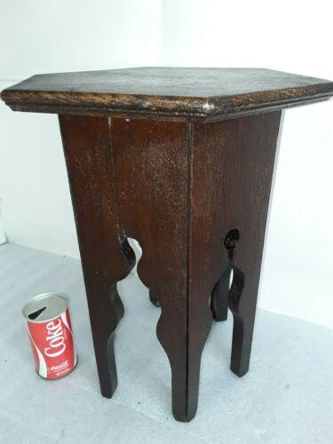 Antique Mission Oak Lamp Table Plant side night Stand Vintage Arts & Crafts
