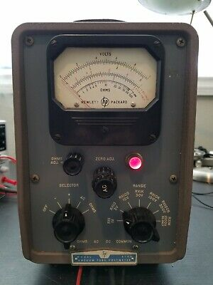 Vintage Hp 410b Vacuum Tube Volt Meter. With Probes Vtvm. Tested. Working.