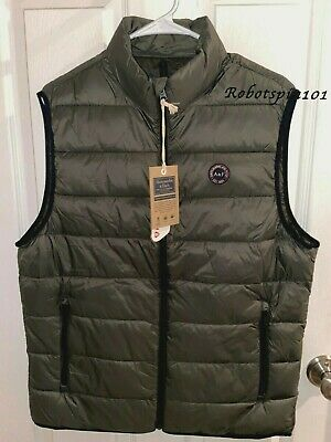 NWT Abercrombie & Fitch 2019 Lightweight Packable Puffer Vest Olive Green M