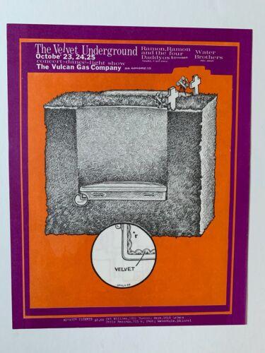 The Velvet Underground at the the Vulcan Gas Company Handbill