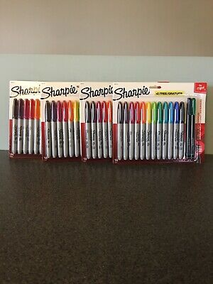 Sharpie Fine Permanent Marker 16 Pack Lot Of 4. Brand New