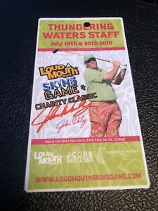 John Daly Signed Golf Pass