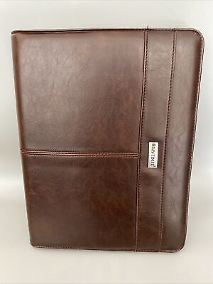 Day Timer Portfolio Zip Folder Soft Leather Brown 13 X 10 Portfolio Folder
