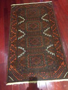 Hand woven Persian rug.