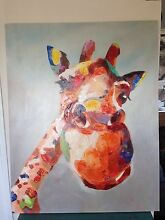 Giraffe painting Mermaid Waters Gold Coast City Preview