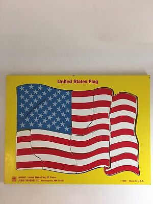 (Judy Instructo United States Flag Puzzle 13 pieces 1988)