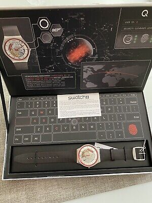 Swatch x 007 Q Watch James Bond No Time To Die Limited Edition Brand New